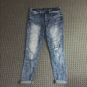 Rue 21 high rise mixed wash denim jeggings